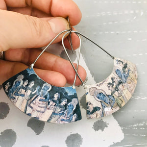 Persian Illustration Wide Arc Zero Waste Earrings