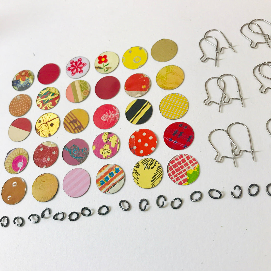 DIY Tiny Tin Earring Kit