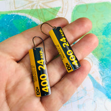 Load image into Gallery viewer, Kodak 24 Exposure Narrow Rectangle Tin Earrings