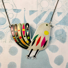 Load image into Gallery viewer, Mod Songbird Recycled Tin Necklace