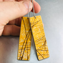 Load image into Gallery viewer, Wheat on Goldenrod Recycled Book Cover Earrings