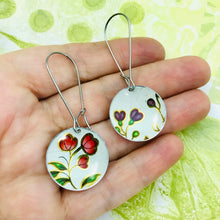 Load image into Gallery viewer, Vintage Flowers Medium Basin Upcycled Earrings