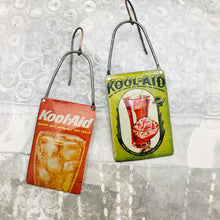 Load image into Gallery viewer, Vintage Kool-aid Packets Arched Wire Tin Earrings