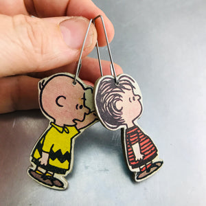 Ex Libris Charlie Brown Upcycled Book Jewelry by Christine Terrell for adaptive reuse jewelry