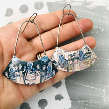 Load image into Gallery viewer, Persian Illustration Wide Arc Zero Waste Earrings