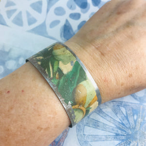 Vintage Magnolia Blossoms Upcycled Tin Cuff
