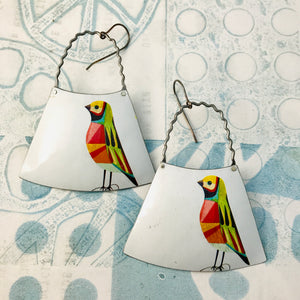 Colorful Songbirds Zero Waste Tin Earrings
