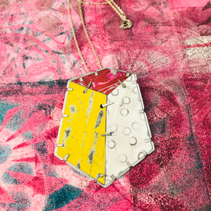Edifice 2 Upcycled Tin Brooch/Necklace