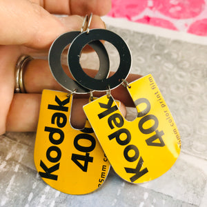 Kodak 400 Chunky Horseshoes Zero Waste Tin Earrings