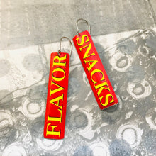 Load image into Gallery viewer, Flavor Snacks Long Narrow Tin Earrings
