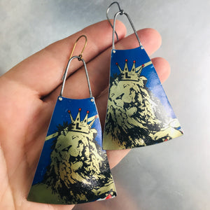 Lion King Zero Waste Tin Long Fans Earrings
