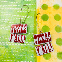Load image into Gallery viewer, Texas Y'all Rectangle Zero Waste Tin Earrings