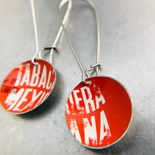 Load image into Gallery viewer, Type on Bright Red Little Basin Earrings