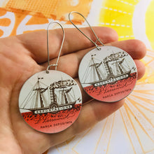 Load image into Gallery viewer, Biscotti Ships Big Circle Tin Earrings
