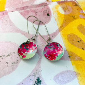 Pink Blossoms Medium Basin Earrings