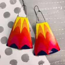 Load image into Gallery viewer, Tin Top Warms Zero Waste Tin Long Fans Earrings