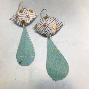 Mixed Patterns Ogee Zero Waste Tin Earrings