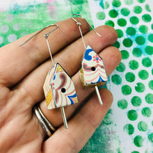 Load image into Gallery viewer, Nyaker Tiny Tin Birdhouse Earrings