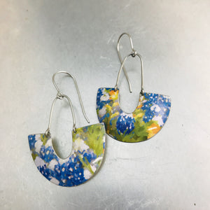 Bluebonnets Little Us Upcycled Tin Earrings