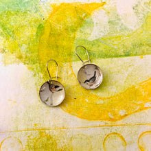 Load image into Gallery viewer, Two Robins Tiny Dot Tin Earrings