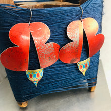 Load image into Gallery viewer, Abstract Butterflies Upcycled Tin Earrings