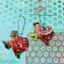 Load image into Gallery viewer, English Garden Upcycled Tin Earrings