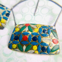 Load image into Gallery viewer, Vintage Mosaic Rectangles Zero Waste Tin Earrings