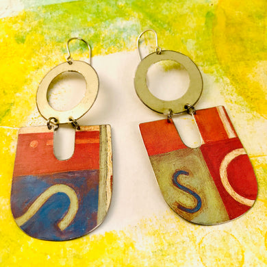 Si So Chunky Horseshoes Zero Waste Tin Earrings
