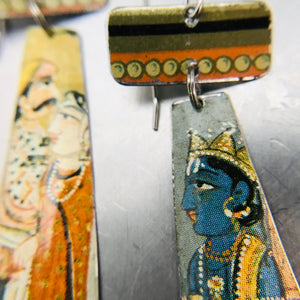 Persian Illustrations Tin Zero Waste Earrings Ethical Jewelry