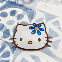 Load image into Gallery viewer, Hello Kitty Blue Flower Zero Waste Tin Necklace