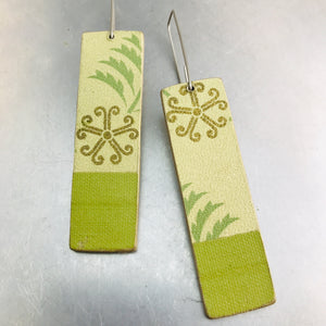 Fancy Asterisks Recycled Book Cover Earrings