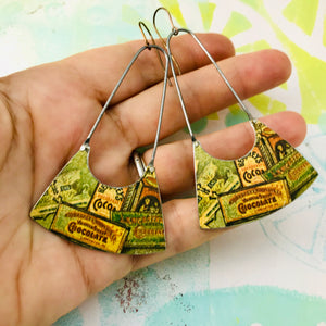 Hershey's Chocolate Bars Recycled Tin Earrings