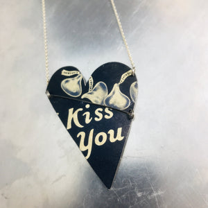 Hershey's Kisses Angled Tin Heart Recycled Necklace