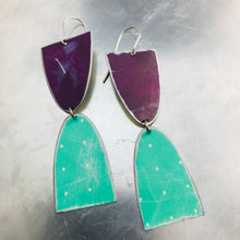 Load image into Gallery viewer, Mod Matte Grape & Green Arches Zero Waste Tin Earrings