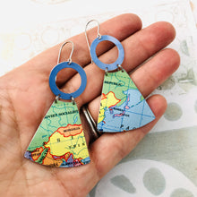 Load image into Gallery viewer, China & USSR Small Fans Zero Waste Tin Earrings