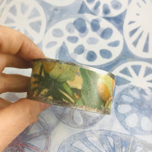 Load image into Gallery viewer, Vintage Magnolia Blossoms Upcycled Tin Cuff