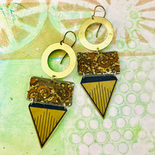 Load image into Gallery viewer, Mixed Geometric Talisman Recycled Tin Earrings