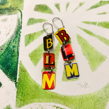 Load image into Gallery viewer, #BLM Upcycled Tiny Typography Earrings