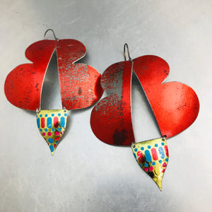 Abstract Butterflies Upcycled Tin Earrings