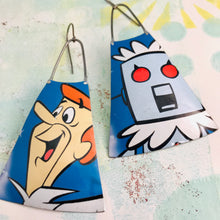 Load image into Gallery viewer, Jetsons Zero Waste Tin Long Fans Earrings