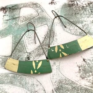 Dusty Slate Wide Arc Zero Waste Tin Earrings