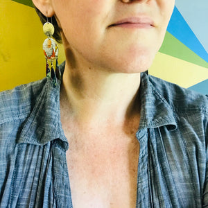 Wise Sage & Novices Zero Waste Tin Chandelier Earrings