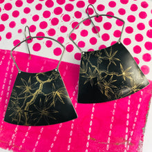 Load image into Gallery viewer, Golden Branches on Midnight Large Zero Waste Tin Earrings
