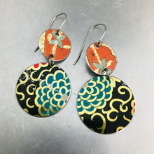 Load image into Gallery viewer, Vintage Mixed Circles Upcycled Tin Earrings