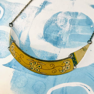 Buttery Yellow Zero Waste Tin Choker Necklace
