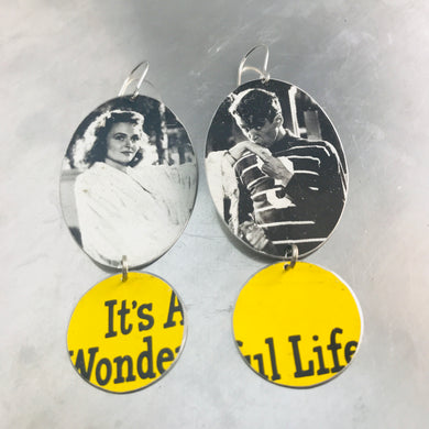 It's a Wonderful Life Upcycled Tin Earrings