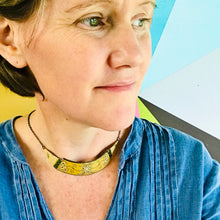 Load image into Gallery viewer, Buttery Yellow Zero Waste Tin Choker Necklace