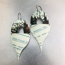 Load image into Gallery viewer, Directions for Making Tea Mixed Arches Upcycled Tin Earrings