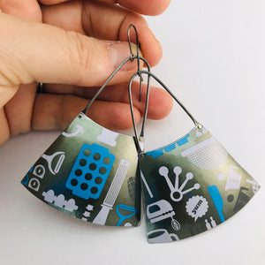 Baking Tools of the Trade Recycled Tin Earrings