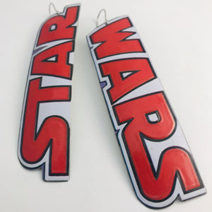Big Star Wars Upcycled Tin Earrings